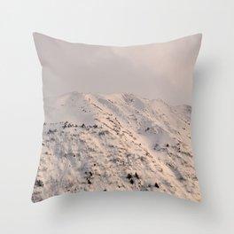 Turnagain Arm Mountain Throw Pillow
