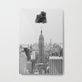 Cloud Over New York Metal Print