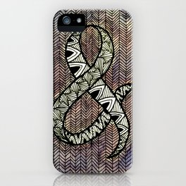 Purple Ampersand iPhone Case