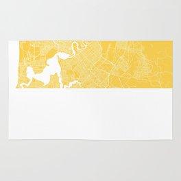 Perth map yellow Rug