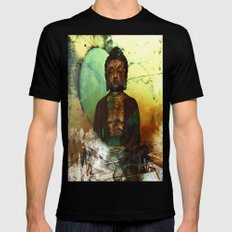 BUDDHA 100 Black X-LARGE Mens Fitted Tee