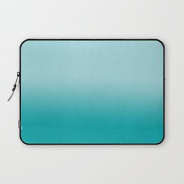 Ombre fade pastel blue trendy color way throwback retro palette 80s 90s style Laptop Sleeve