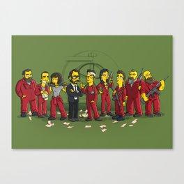 Casa De Papel Canvas Print