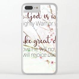 Zephaniah 3  17 Clear iPhone Case