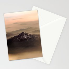 The West is Burning - Mt Shasta - nature photography Stationery Cards