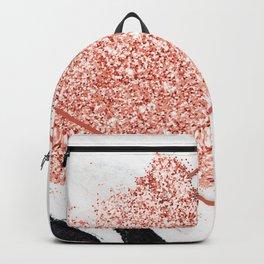 Black Granite Pink Glitter Backpack