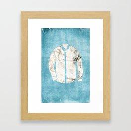 Blue Tshirt Framed Art Print