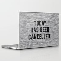 xbox Laptop & iPad Skins featuring Today has been Cancelled by Text Guy