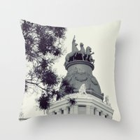 madrid Throw Pillows featuring Madrid by Valkyries