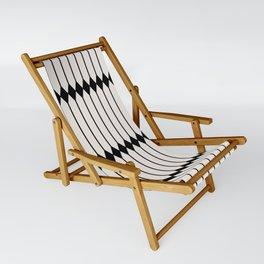 Minimal Geometric Pattern - Black and White Sling Chair