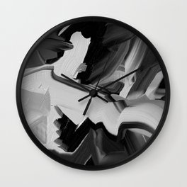 Chaos Within - Abstract Painting Wall Clock