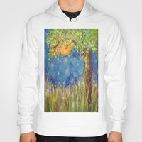 fireflies Hoodies featuring Fireflies by Debydear