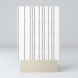Black Brush Dots Mini Art Print