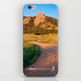 Sunrise In Boulder, Colorado With Path (Chautauqua State Park, Portrait) iPhone Skin