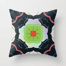Vintage Tiles: Black  Throw Pillow