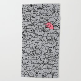 Word 2 the Herd v1 Beach Towel