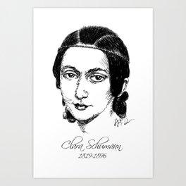 Clara Schumann Art Print