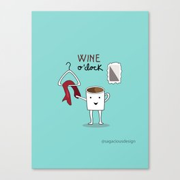 Wine O'clock Canvas Print