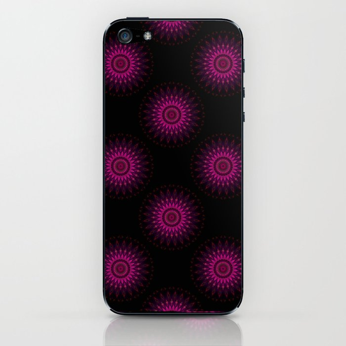 Stain glass Mandala iPhone Skin