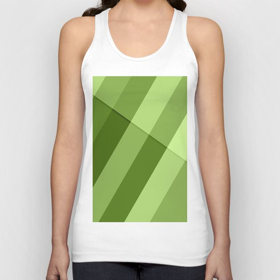Greenery modern geometric lines Unisex Tank Top
