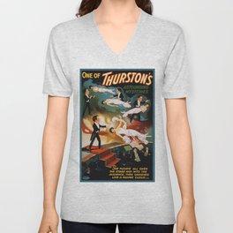 Vintage Magician Thurston Levitation Unisex V-Neck