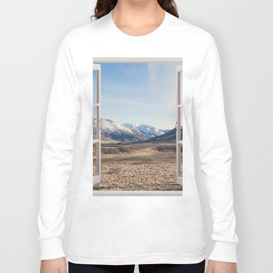Hills through the window Long Sleeve T-shirt
