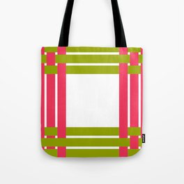 The intertwining pink and green ribbons Tote Bag