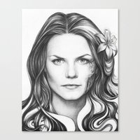 house md Canvas Prints featuring Dr. Cameron-House MD-Jennifer Morrison-Portrait by Olechka