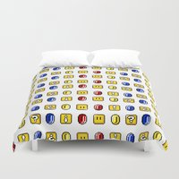 Coins, Boxes and Power ups, Oh my! Duvet Cover