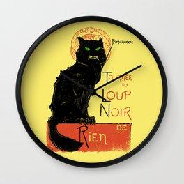 Loup Noir Wall Clock