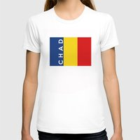 chad wys T-shirts featuring chad country flag name text by tony tudor