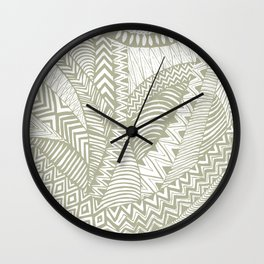 African lines Wall Clock