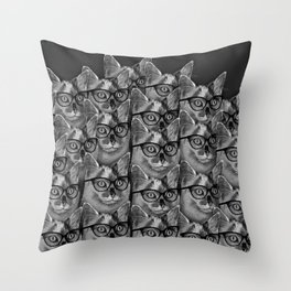 Thats a Lot of Cool Cats Throw Pillow