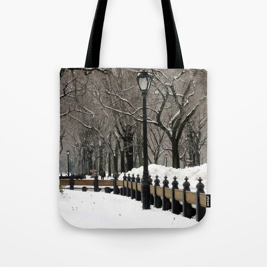 """Central Park in Winter"" Tote Bag"