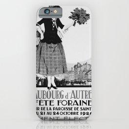 retro old Fete Foraine poster iPhone Case