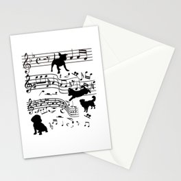 Dog Musician Funny Dogs Clef Gift Stationery Cards