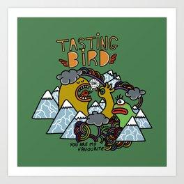 Tasting Bird Art Print