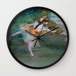 "Edgar Degas ""Dancer on stage"" Wall Clock"