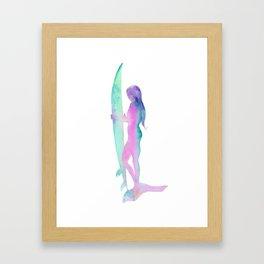 Sunrise Surf, Surf Art, Surfboard Decor Framed Art Print