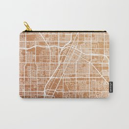 Rose gold Las Vegas map Carry-All Pouch