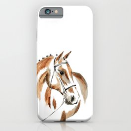 Bay Watercolour Horse iPhone Case