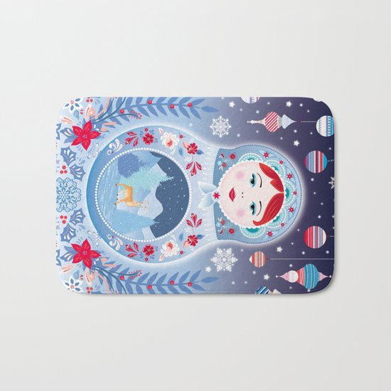 Our Lady of Winter Bath Mat
