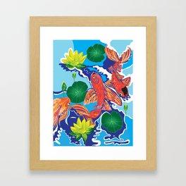 Dance of the Coi Framed Art Print