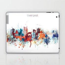 Liverpool Watercolor Skyline Design Laptop & iPad Skin