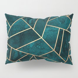 Deep Teal Stone Pillow Sham