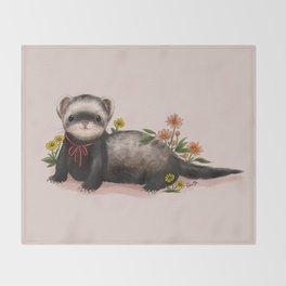 Little Ferret Throw Blanket