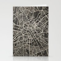 manchester Stationery Cards featuring manchester map ink lines by NJ-Illustrations