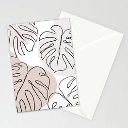monstera matt Stationery Cards