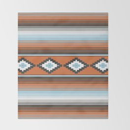 Modern Mexican Serape in Technicolor Throw Blanket