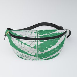 Natural Outlines - Fern Green & White Marble #689 Fanny Pack